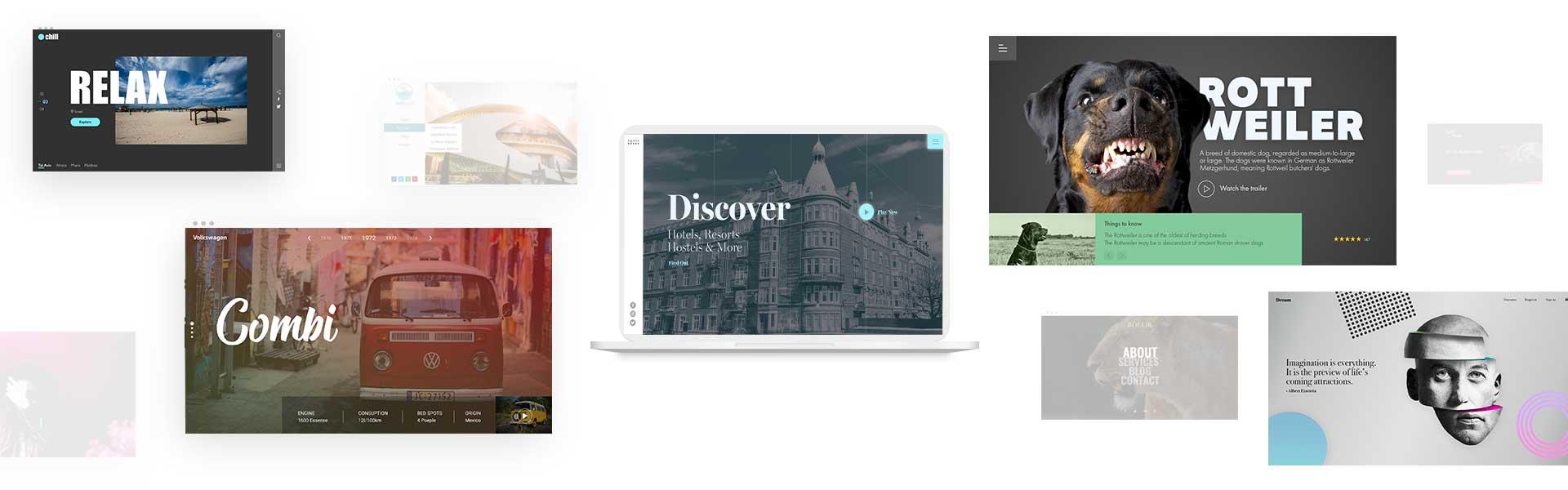 portfolio of websites